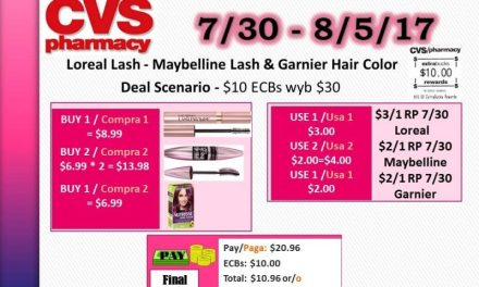CVS: Loreal, Maybelline & Garnier deal scenario (starting 7/30/17)