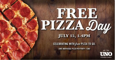 Uno FREE Pizza Day (tomorrow only)