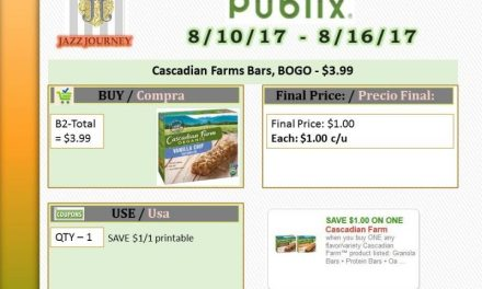 Publix: Cascadian Farm Bars (upcoming ad 8/10) as low as $1.00