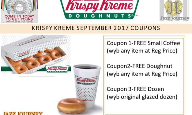 Krispy Kreme 2017 Calendar – September Coupons (ends today)