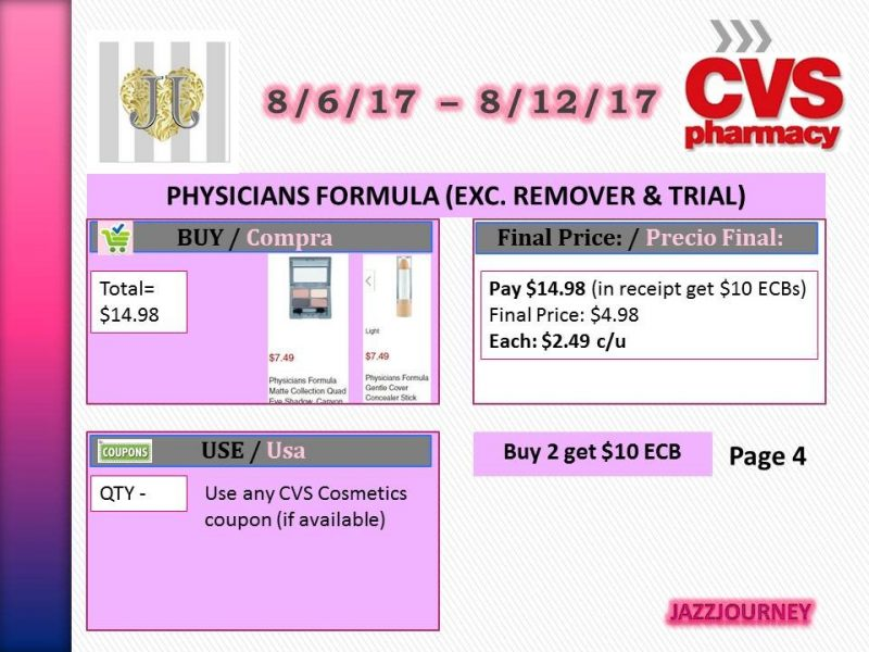 CVS: Physicians Formula as low as $2.49 each (starting 8/6/17)