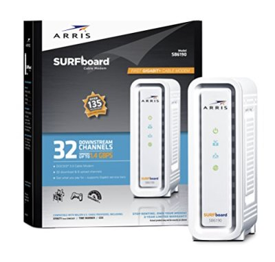 ARRIS SURFboard DOCSIS 3.0 Cable Modem (SB6190) Certified with Comcast Xfinity, Time Warne…
