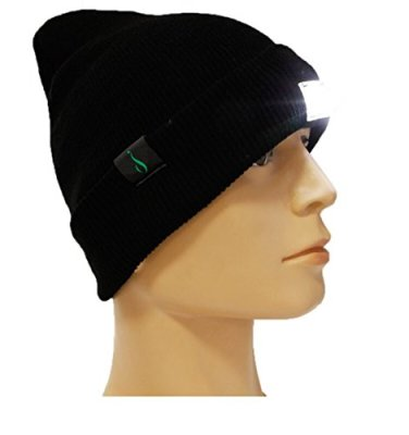 Extremely Bright LED Lighted Beanie, Cap, Hat! Unisex! Perfect Hands Free Flashlight for J…