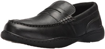 Rockport Men's Rocker Landing Ii Penny Loafer, Black Tumbled, 10 M US