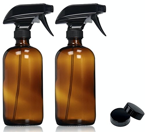 Empty Amber Glass Spray Bottles with Lab…