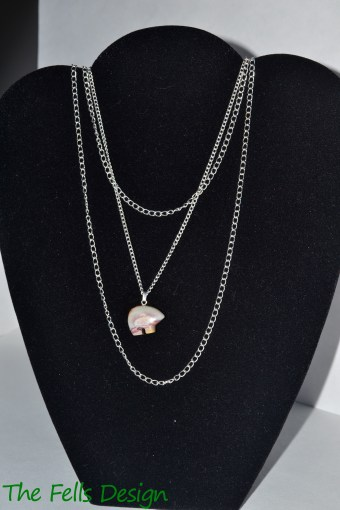 Bear Gemstone Charm Multi-Strand Chain Necklace