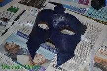 Navy base coat on Lucina's Mask