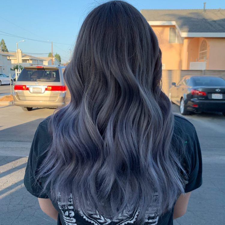 Ash Blue Hairstyle