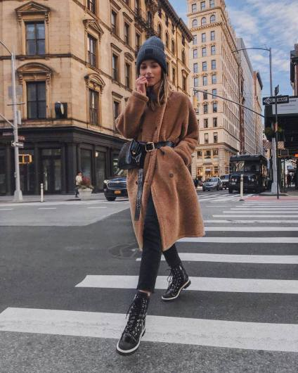 Huge Coat and Skinny Jeans