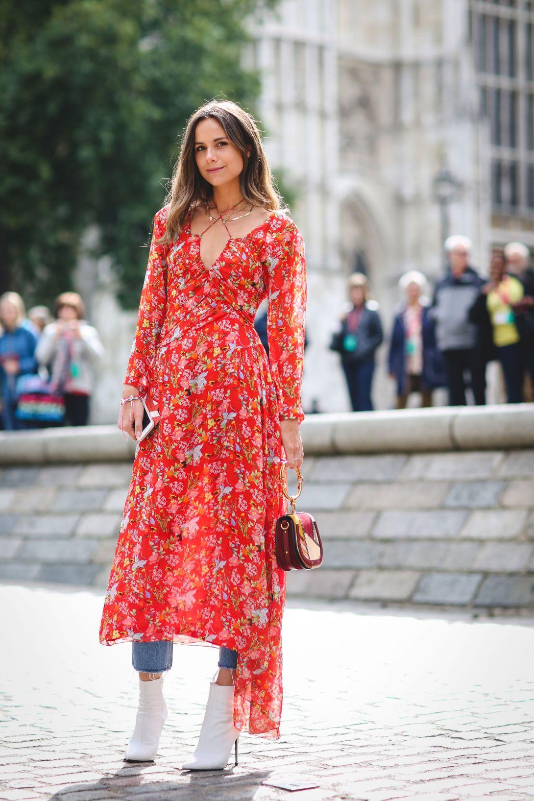 春夏裙裝也能在冬季穿出新生命:5 個洋裝 X 丹寧褲穿搭提案 - The Femin