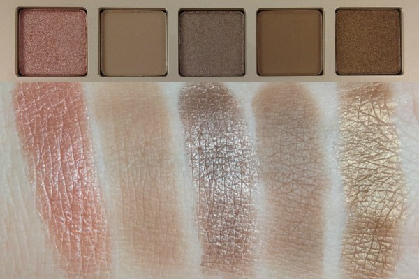 Naked on the Run Eyeshadow swatches