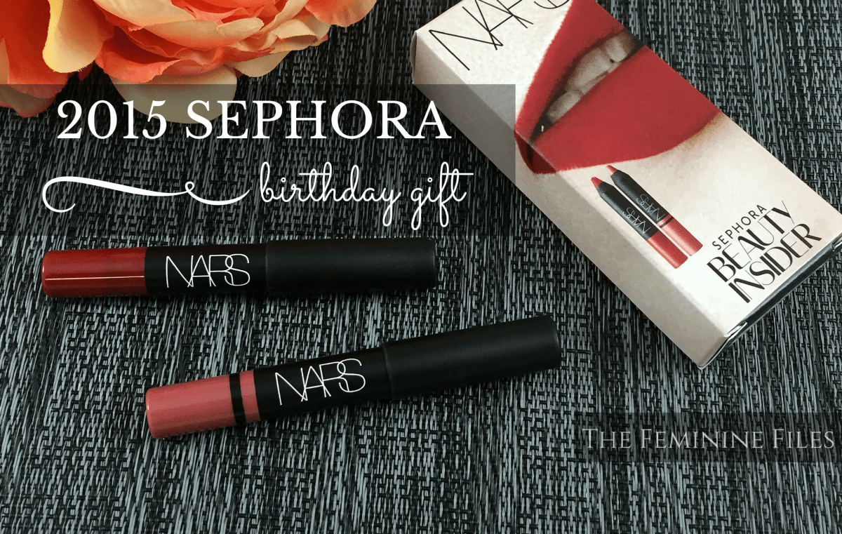2015 Sephora Birthday Gift: NARS Lip Pencils