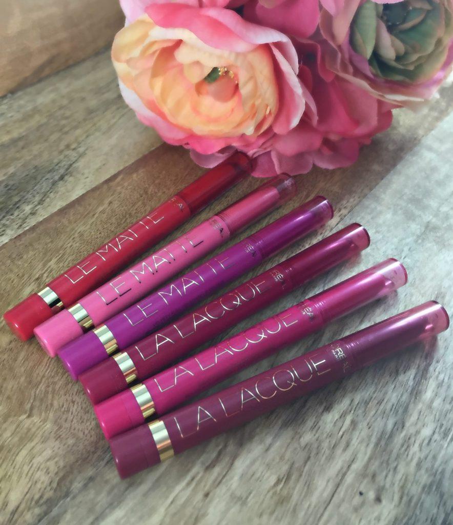 L'Oreal Le Matte & La Lacque Lipsticks
