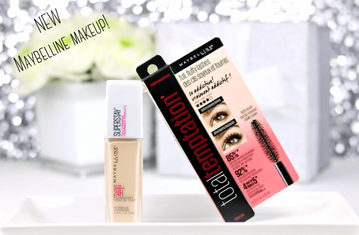 New from Maybelline! Super Stay Foundation & Total Temptation Mascara