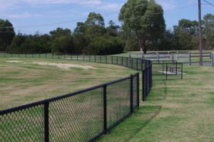 football oval fence, oval fence, playing field fence,