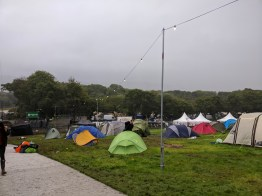 The area of the campsite closest to the entrance became particularly sodden