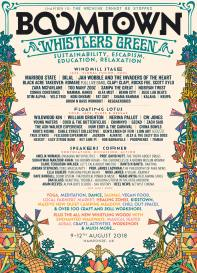 Boomtown Chapter 10 2018 Whistlers Green Line-up Poster
