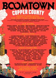 Boomtown Chapter 10 2018 Copper County Line-up Poster