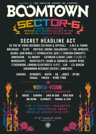 Boomtown Chapter 10 2018 Diss-order Alley Line-up Poster: Sector 6