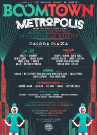 Boomtown Chapter 10 2018 Diss-order Alley Line-up Poster: Metropolis