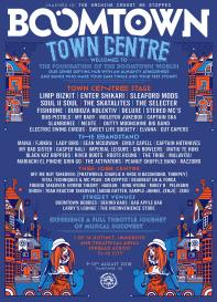 Boomtown Chapter 10 2018 Diss-order Alley Line-up Poster: Town Centre