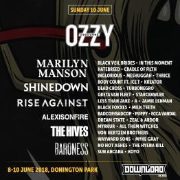 Download 2018 Sunday Line-Up Poster