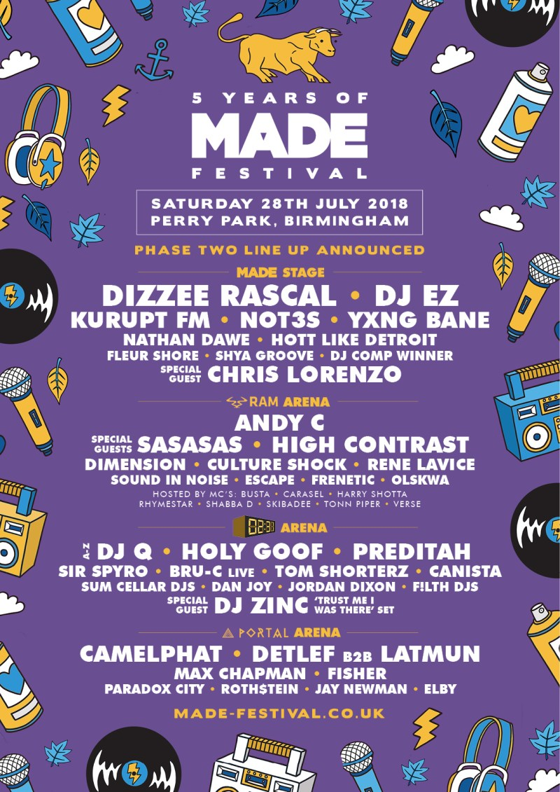 Made Festival Line-up Poster 2018