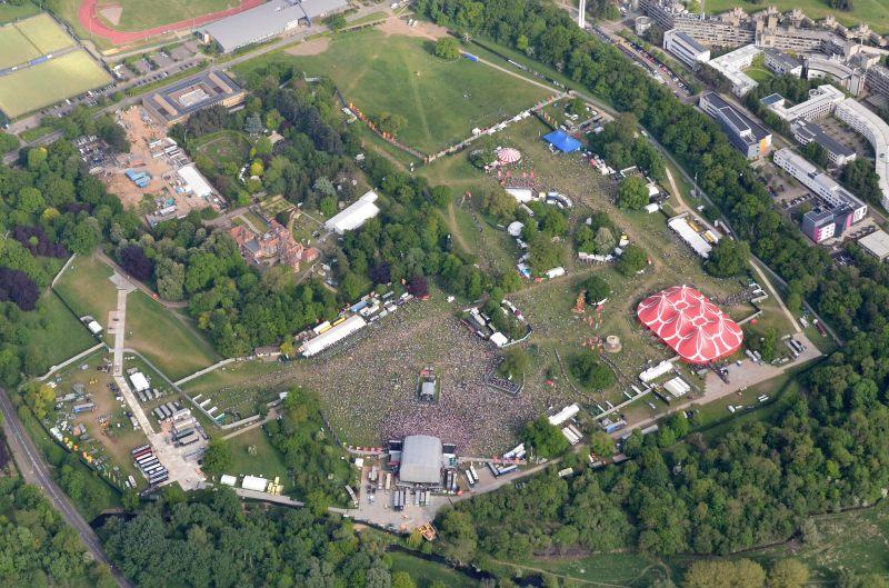 BBC Big Weekend Norwich Aerial