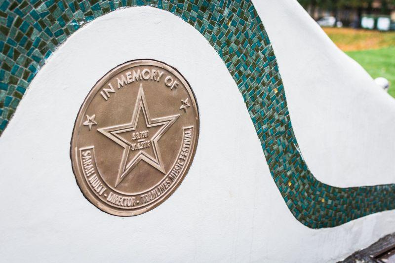 Sarah Nulty Magid Magid Tramlines Memorial Plaque Devonshire Green