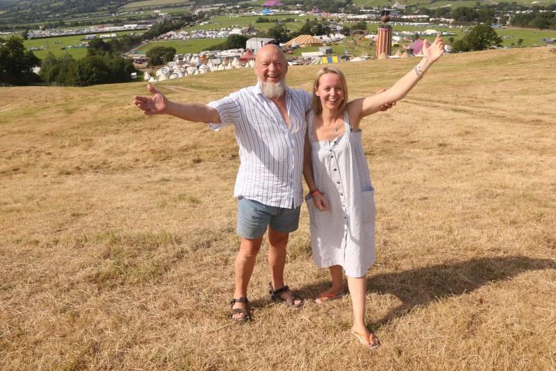 Glastonbury: Michael and Emily Eavis