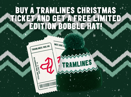 One free Tramlines bobble hat with each ticket purchased