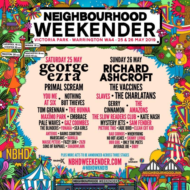 Neighbourhood Weekender 2019 Line-up Poster