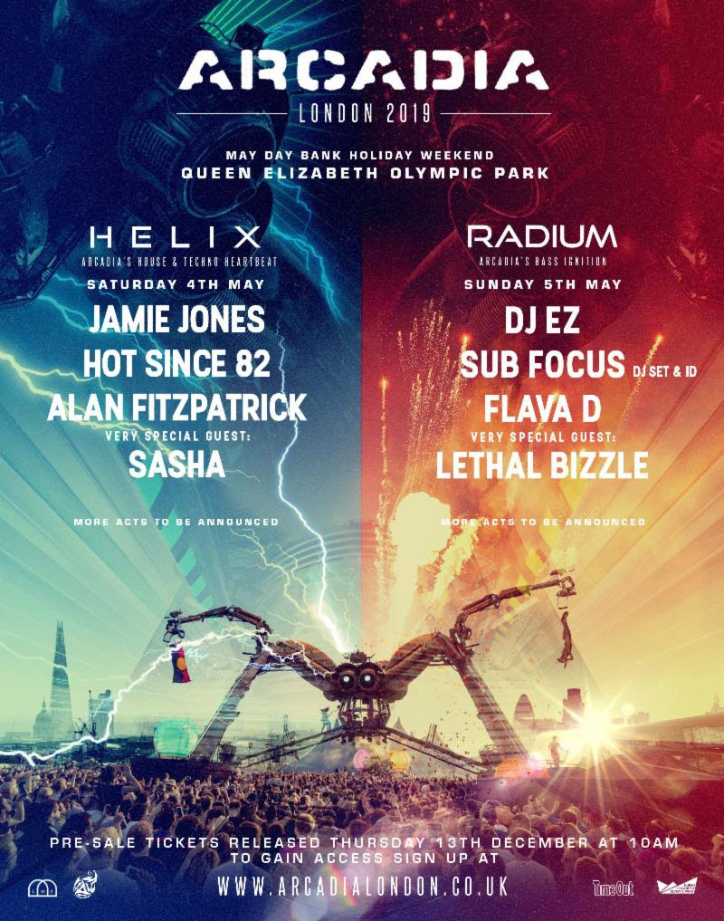 Arcadia London 2019 Line-up Poster
