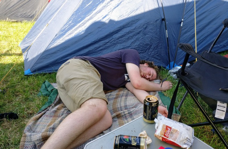 Sleep and fatigue, poor mental health at Glastonbury Festival