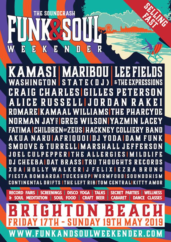 The Soundcrash Funk & Soul Weekender 2019 Line-up Poster