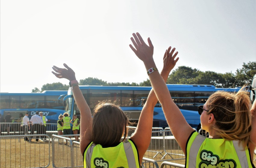 Volunteer with Big Green Coach at over 30 festivals