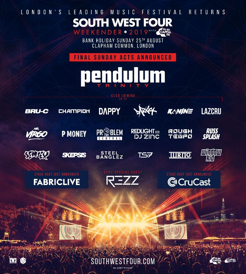 South West Four Line-up Poster