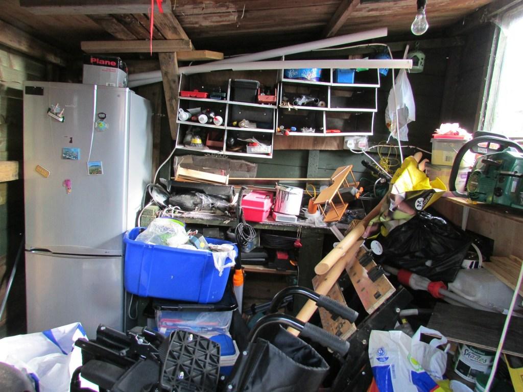 Messy garage or shed