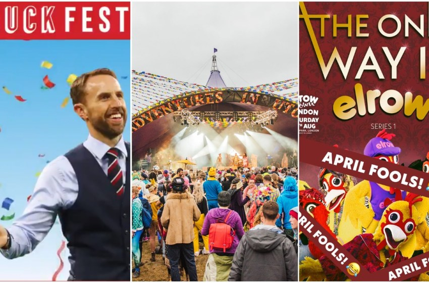 The best April Fools' Day gags from music festivals this year