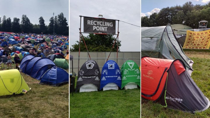 Festival tent recycling