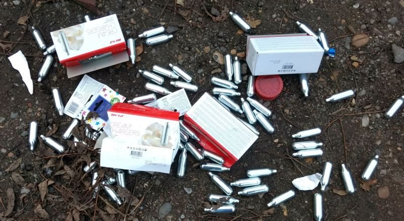 Mosa Cream Chargers Discarded as litter