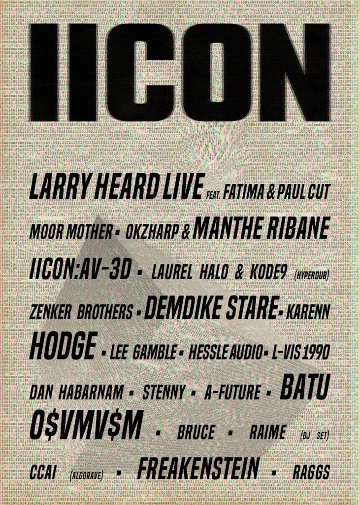 Glastonbury 2019 IICON line-up poster