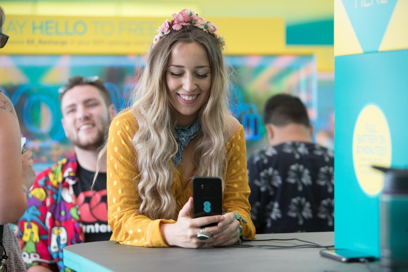 EE Recharge Tent at Glastonbury