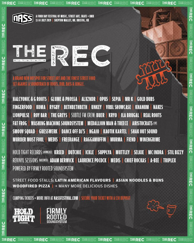 NASS The Rec Line-up Poster 2019