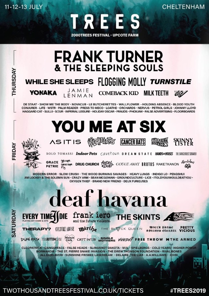 2000trees 2019 line-up poster