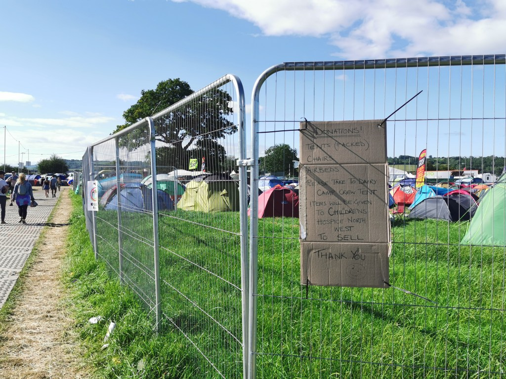 Glastonbury 2019 Donate Tents Airbeds to Charity