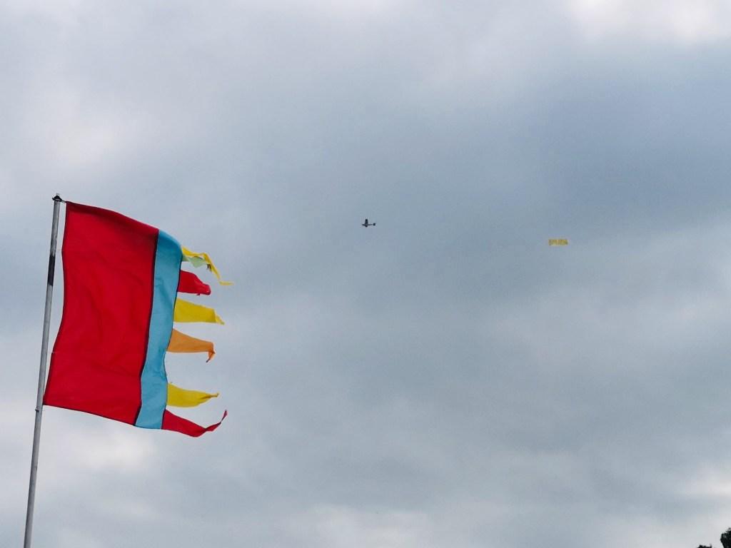 Flyjesus banner plane flying over Kendal Calling
