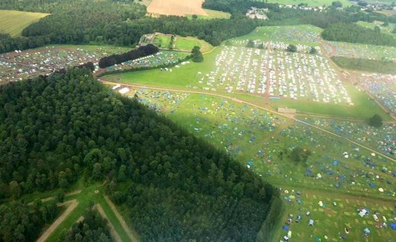 Kendal Calling Campsite Aerial Photo