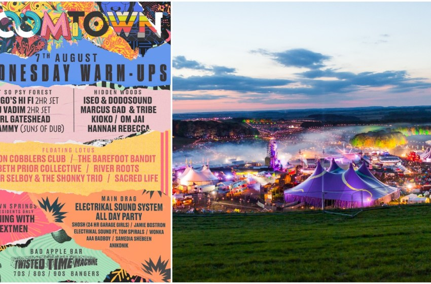Boomtown Fair: Line-up poster revealed for Wednesday warm-up
