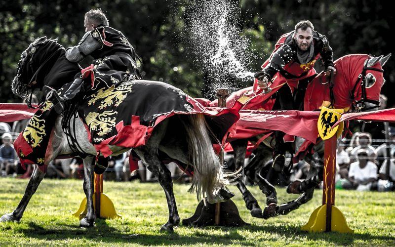 England's Medieval Festival jousting